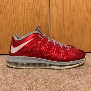 Men's Nike Lebron 10 Low University Red
